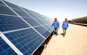 پنل های خورشیدی در استان کینجای چین