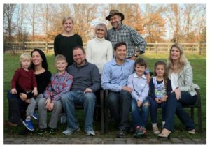 James Hansen & his family