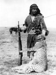 شکار یوز به دست فردی عرب در جنوب ایران
