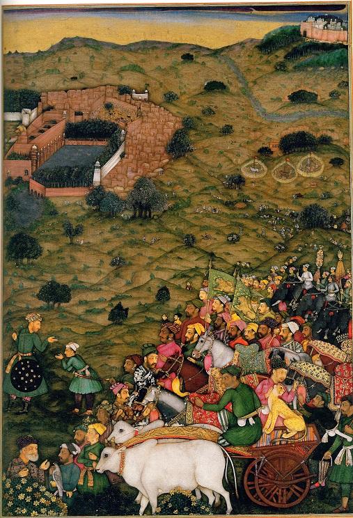 مینیاتور از کتاب شاه جهان نامه، گورکانیان هند