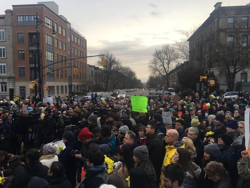 تجمع معترضان در نیویورک