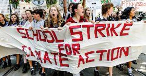 اعتصاب محصلان مدارس اروپا برای مقابله با تغییر اقلیم